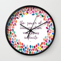 Imagination By Anna Caro… Wall Clock