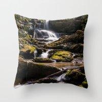 Mill Creek Falls Throw Pillow