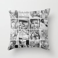 before the big, deep, dark sleep Throw Pillow