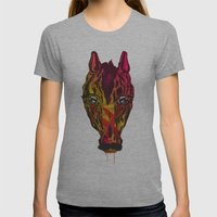 The Horse Womens Fitted Tee Athletic Grey SMALL