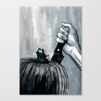 Carve It To Death Canvas Print