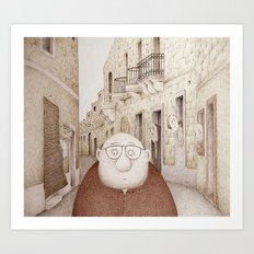 Da Mhux mir-Raħal - Retro Version  (We don't like strangers around here...) Art Print