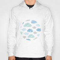 Watercolour Clouds Hoody