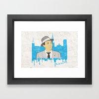 These Litte Town Blues Framed Art Print