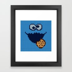 monster 'nom nom' knit Framed Art Print