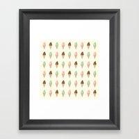 Ice Cream - Whipped Framed Art Print