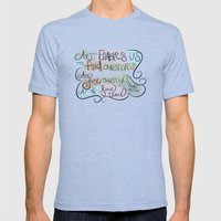 Art Enables Us Mens Fitted Tee Tri-Blue SMALL