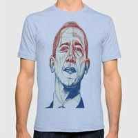 Red, White and Obama Mens Fitted Tee Athletic Blue SMALL