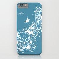 Turq Skull N Finch iPhone 6 Slim Case