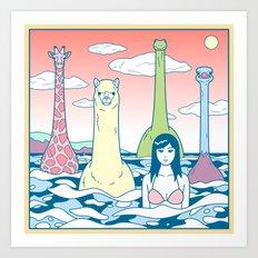 Animals & Sea Art Print