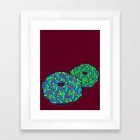 Donuts: Rainbow consolation (blue) Framed Art Print