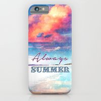 iPhone & iPod Case featuring Always Summer - for iphone by Simone Morana Cyla