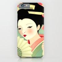 iPhone & iPod Case featuring Geisha: Rose by Jenny Lloyd Illustration
