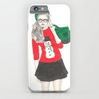 iPhone & iPod Case featuring Christmas Fashion by Kim Jenkins