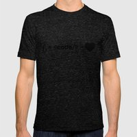 design + code = ♥ Mens Fitted Tee Tri-Black SMALL
