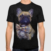 French Bulldog  Mens Fitted Tee Tri-Black SMALL