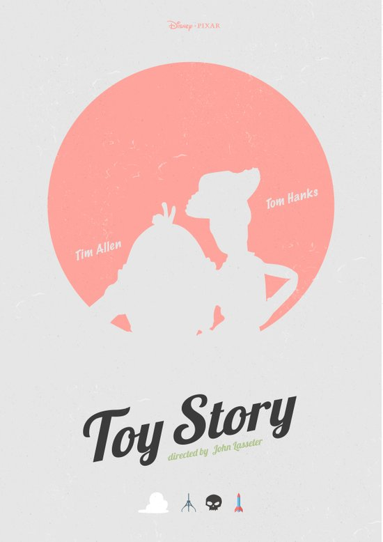 Toy Story - minimal poster Art Print