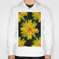 Yellow Natural Flowers On Black Background Hoody