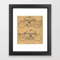 Motorcycle Diagram Framed Art Print