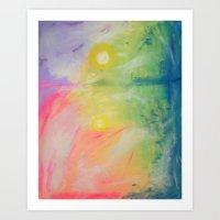 Impressions At Sundown  Art Print