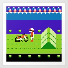 Punctured Bike Art Print