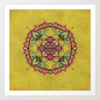 Tan Mandala Art Print