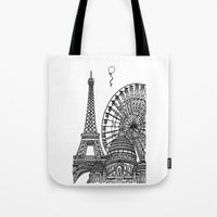 Paris Silhouettes Tote Bag