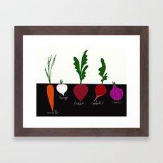 Eat your Veggies Framed Art Print