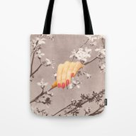 Tote Bag featuring BLOSSOMS by Beth Hoeckel Collage…