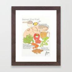Basmati Rice Pilaff Framed Art Print