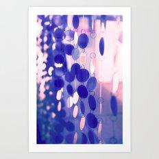 GLAM CIRCLES #Soft Pink/Blue #1 Art Print