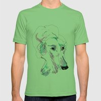 Lurcher Mens Fitted Tee Grass SMALL
