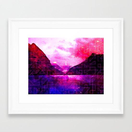 Spaced Louise Framed Art Print