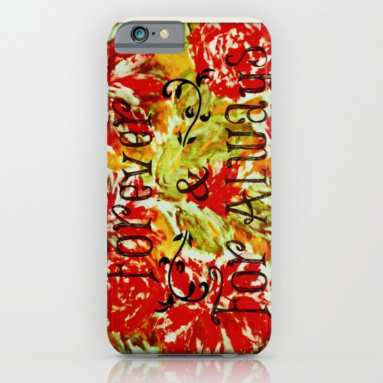 FOREVER & FOR ALWAYS - Beautiful Vintage Acrylic Floral Painting Romantic Love Typography Art iPhone & iPod Case