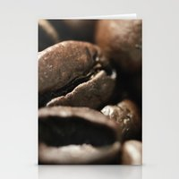 Coffee beans macro photo - fine art - still life - interior decoration, for bar & restaurant,  Stationery Cards