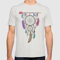 Big Dream Catcher Mens Fitted Tee Silver SMALL