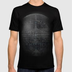 Numbers Diagram Black Mens Fitted Tee SMALL