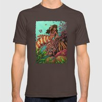 Tropical Beauty Mens Fitted Tee Brown SMALL