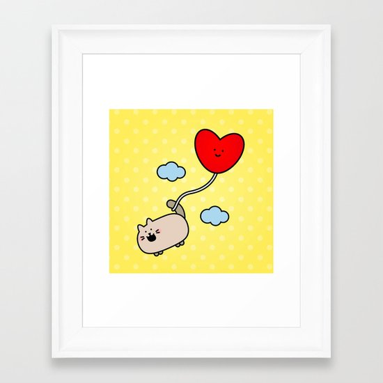 Kimmi's Love is 0n Cloud 9 Framed Art Print