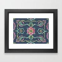SELENE - FLORAL PATTERN … Framed Art Print