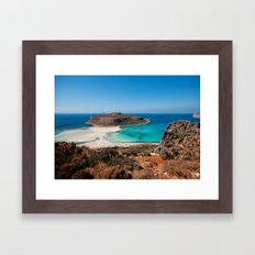 Balos Beach Framed Art Print