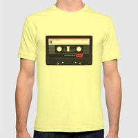 Old School Tape Mens Fitted Tee Lemon SMALL