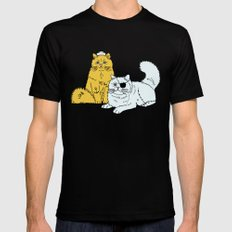 Navy Cats Mens Fitted Tee Black SMALL