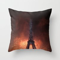 As France Celebrates Their Nation's Birthday Throw Pillow