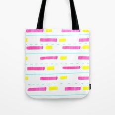 Pink and Lemon Stripes  Tote Bag