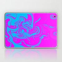 Blue and pink swirls  Laptop & iPad Skin