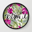 Killin' It – Tropical Pink Wall Clock
