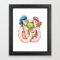 Chunky Love Framed Art Print