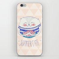 Summertime Cat iPhone & iPod Skin