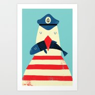 Art Print featuring A Sailors Life For Me by Monster Riot